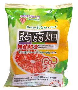 【キャッシュレス5%還元】マンナン 蒟蒻畑ピンクグレープフルーツ25g×12個【イージャパンモール】