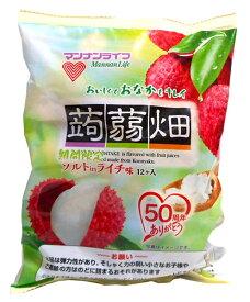 【キャッシュレス5%還元】マンナン 蒟蒻畑ソルティライチ味25g×12個【イージャパンモール】