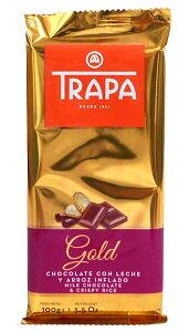【キャッシュレス5%還元】富士貿易 トラパゴールドミルクチョコレートクランチ100g【イージャパンモール】
