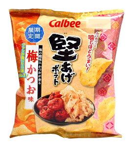 ★まとめ買い★ カルビー 堅あげポテト梅かつお味60g ×12個【イージャパンモール】