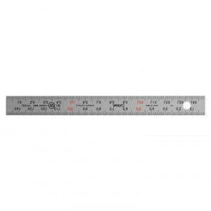 【送料無料】ステンレス・アルミ定規 ユニオン直尺 15cm 1-831-0015【生活雑貨館】