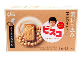 グリコ ビスコ素材の恵み大豆ミルク&きな粉24枚【イージャパンモール】