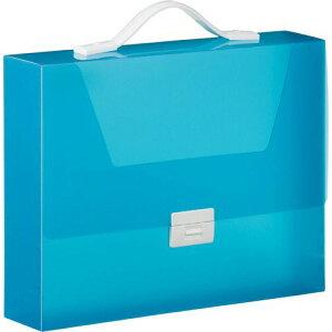 シンプリーズ キャリングケース グリップタイプ(透明) A4 収納幅70mm 青 1セット(6個)