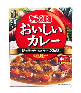 ★まとめ買い★ SBなっとくのおいしいカレー 中辛180g ×6個【イージャパンモール】