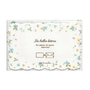 【送料無料】クリエイトジー ダイカットミニレターセット 青小花柄 CGL731 6セット【生活雑貨館】