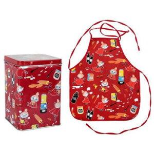 【送料無料】MOOMIN(ムーミン) エプロン 缶付き リトルミイ レッド MNX080081【生活雑貨館】