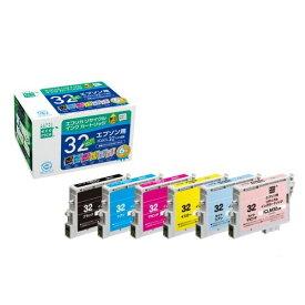 【ポイント最大21倍★6/5 6/10 6/25】エコリカ リサイクルインクカートリッジ [エプソン:IC6CL32互換] 1箱(6個:各色1個)