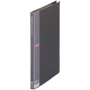 テージー クリアファイル A4タテ 20ポケット 背幅15mm ダークグレー 1冊