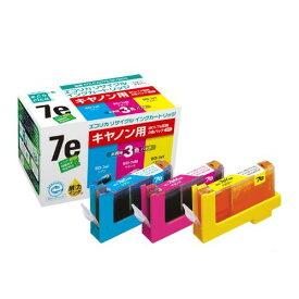 エコリカ リサイクルインクカートリッジ [キヤノン:BCI?7e/3MP互換] 1箱(3個:各色1個)