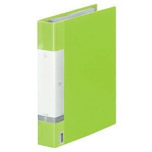 LIHIT LAB リクエスト クリヤーブック(ポケット交換タイプ) A4タテ 30穴35ポケット付属 背幅50mm 黄緑 1冊