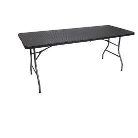 【代引き不可】ラタン調フォールディングテーブル YS-R180