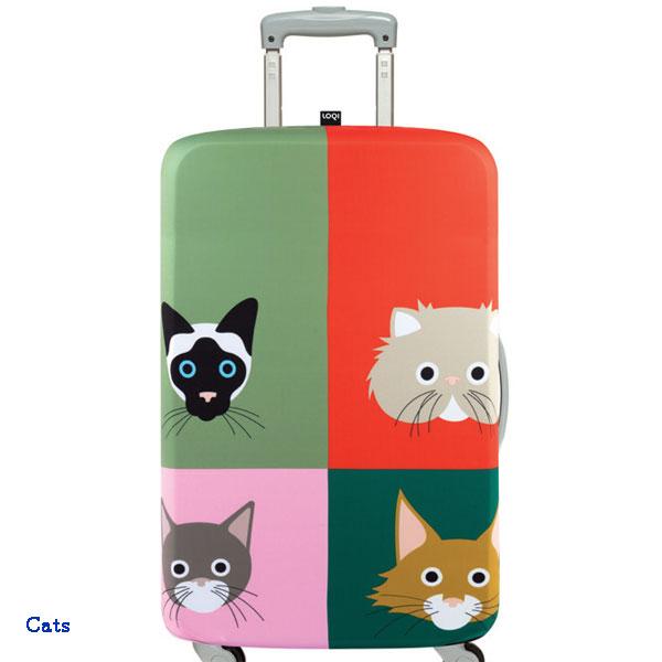 LOQI luggage cover ローキー ラッゲージカバー Lサイズ cats
