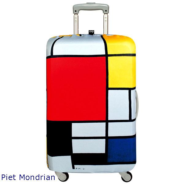 LOQI luggage cover ローキー ラッゲージカバー Lサイズ Piet Mondrian