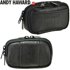 ANDY HAWARDアンディハワード / アウトポケット付き2室式ベルトポーチ 25871
