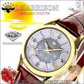 J.Harrisonジョン・ハリソン4石天然ダイヤモンド付・ソーラー電波時計女性用JH-085LGW