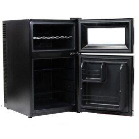 【代引き不可】ワインセラー ペルチェ方式 8本収納タイプ 2ドアワインセラー「冷蔵庫付」 BCWH-69