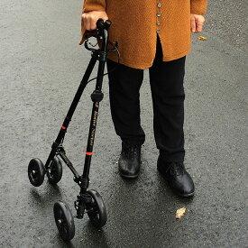 歩行器 老人 歩行補助器 杖 ステッキ タイヤ 介護 送料無料【歩行補助器 ハンドレールステッキ S/M】【送料無料】【ポイント 倍】折りたたみ式歩行器 足腰 の 痛み で歩くのが辛い方に!ブレーキ wf