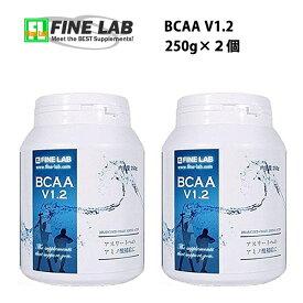 送料無料 ファインラボ BCAA V1.2 250g×2個 国産 必須アミノ酸 筋トレ バルクアップ アンチカタボリック トレーニング サプリメント 野球 ボディメイク FINELAB 女性 ラグビー アメフト ボディビル
