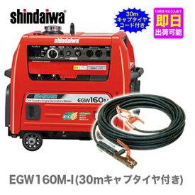 【数量限定】〈新ダイワ〉発電機 兼用 エンジン溶接機 EGW160M-I(30mキャプタイヤ付き)【代引不可・車上引き渡し品】