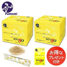 お得な2箱セット お試しサイズプレゼント Kawai カワイ80 乳酸球菌カワイ株(80mg含有/包) 河合乳酸球菌 Kawai80 送料無料 正規代理店