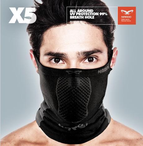 【お買い物マラソン】Naroo Mask X5 スポーツ用フェイスマスク 日焼け予防 UVカット 防風 防寒 自転車用 スギ ヒノキ 花粉症 紫外線対策 自転車ウェア テニス スキー スノーボード ウエアアクセサリー スポーツマスク