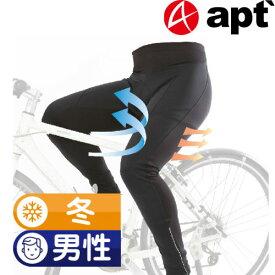 apt'ウインドブレークタイツ コンプレッションパンツ 自転車 サイクルタイツ サイクリングウエア サイクルウエア 自転車ウエア ウェア 冬用レーサーパンツ レーパン コンプレッションウェア