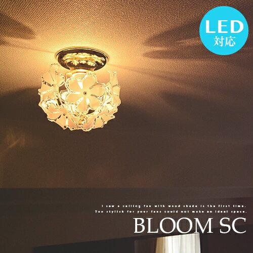 BLOOM SC:ブルーム プチシーリングライト 1灯 LED電球対応 プチシャンデリア シーリング 花柄 シェード プルメリア ナチュラル カントリー ダイニング用 ゴールド 寝室 玄関 廊下 階段 リビング ワンルーム 間接照明 照明 ライト 上品 可愛い ゴージャス 華やか (2-2