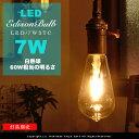 LED電球 E26/7W/60W相当 クリアガラス【フィラメントLEDエジソン球:LED EDISON BULB】signature レトロ アンティーク…