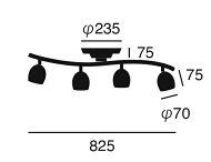 子供部屋 ライト 照明 リモコン おしゃれ 寝室 6畳 8畳 10畳 かわいい シーリングライト カラフル リビング用 居間用 ダイニング用 点灯切替 段調光 明るい Annabell remote ceiling lamp アナベル 4灯 スポットライト [ARTWORKSTUDIO アートワークスタジオ](CP4(PX10
