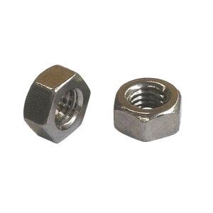 1種六角ナットM2.3-0.4並目ピッチ【カドミレス真鍮(シンチュウ)/生地/10個入】(二面幅4.5高さ1.8)