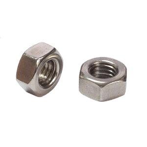 2種六角ナットM3-0.5並目ピッチ【カドミレス真鍮(シンチュウ)/ニッケル/1個入】(二面幅5.5高さ2.4)