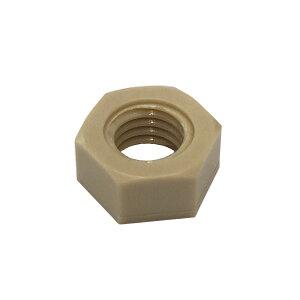 1種六角ナットM2-0.4並目ピッチ【PPS(ポリフェニレンサルファイド樹脂)/生地/1個入】(二面幅4高さ1.6)