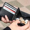 二つ折り財布 メンズ 財布 本革 BOX型小銭入れ ビジネスに最適 シンプル ボックス型 小銭入れ 折り財布 プレゼント ギ…