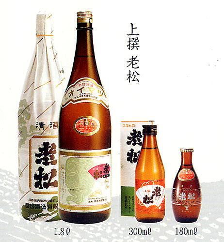 老松酒造 上撰 180(180ml)【のし・包装不可】