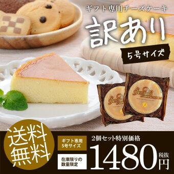 【送料無料】訳ありチーズケーキ5号×2個セットスイーツお菓子洋菓子お試しわけありケーキ食品