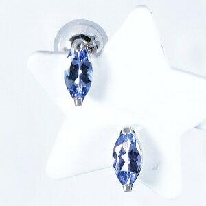 タンザナイト ピアス 計0.4カラット プラチナ マーキスカット12月誕生石 ティファニー命名の稀少宝石「タンザナイト」