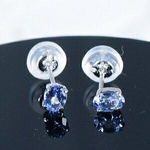 タンザナイト ピアス 計0.3カラット プラチナ オーバルカット12月誕生石 ティファニー命名の稀少宝石「タンザナイト」