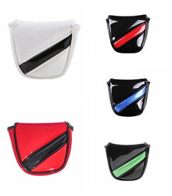 パターカバー ヘッドカバー オデッセイ 2ボールに対応 エナメル製 マグネットタイプ マレットタイプ 無地円型 送料無料