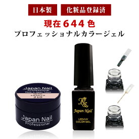 安心の日本製カラージェル ジャータイプ ボトルタイプ 現在644色 LEDUV対応ジェル化粧品登録済