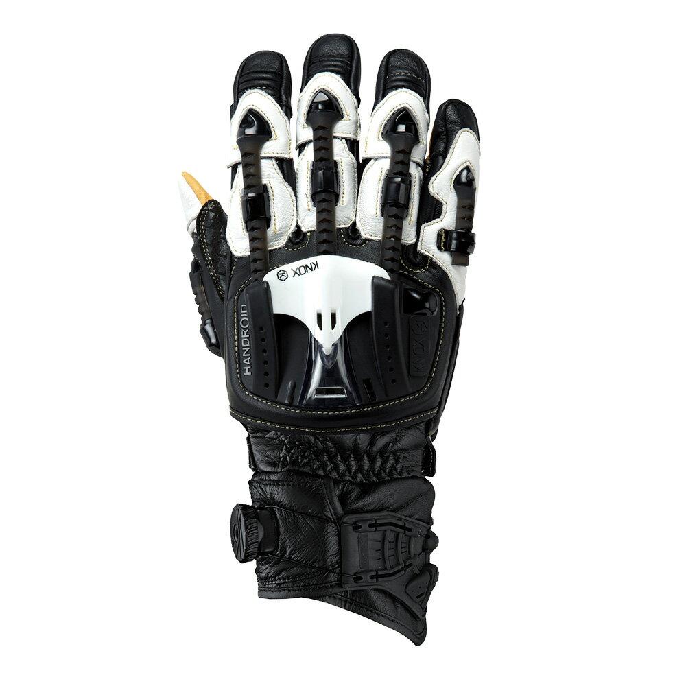 バイク用プロテクショングローブ ノックス ハンドロイド ポッド ブラックホワイト(日本正規代理店) KNOX Handroid Pod