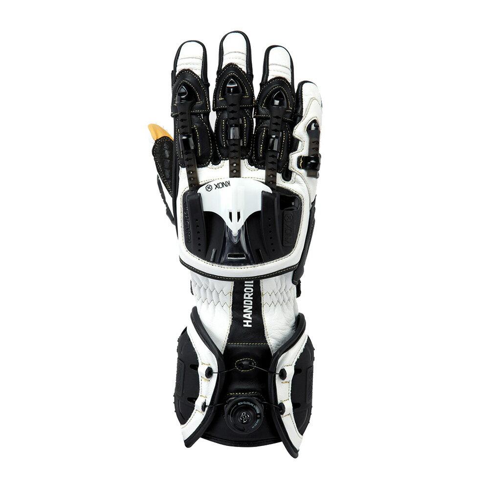 バイク用プロテクショングローブ ノックス ハンドロイド ホワイト(日本正規代理店) KNOX Handroid