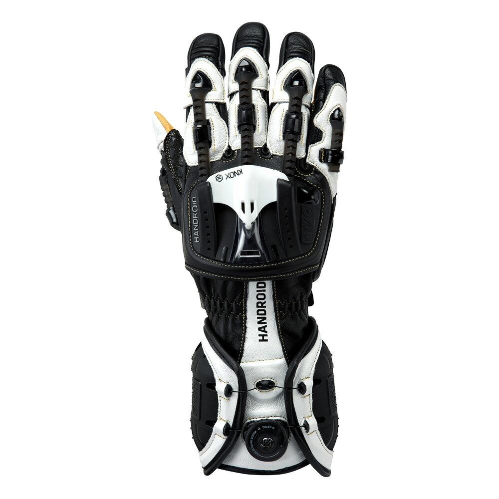 バイク用プロテクショングローブ ノックス ハンドロイド ブラック/ホワイト(日本正規代理店) KNOX Handroid