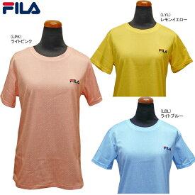 【あす楽対応】FILA フィラ レディース Tシャツ ドット柄 水玉 吸水速乾 UV 419-641【19】