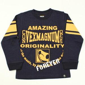 長袖Tシャツ ロゴ カレッジ風 ミュータン 男の子 キッズサイズ 子供服 コンベックス CONVEX