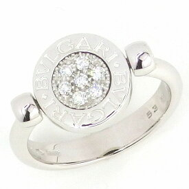 【ブルガリ】リング フリップ K18WG ダイヤモンド オニキス 11.75号 / #53【中古】