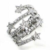 StarリングK18WGダイヤモンド0.76ct(I-M/VS-SI)20号【中古】