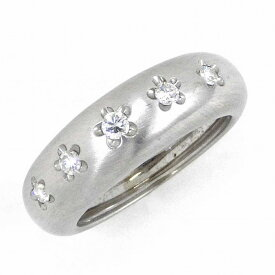 【3%OFFクーポン発行中】 ポンテヴェキオ リング フラワーモチーフ K18WG ダイヤモンド 0.19ct 10.5号【中古】
