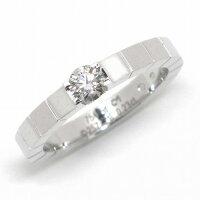 カルティエリングラニエールソリテールK18WGダイヤモンド(E/VVS1/3EX)11号/#51【中古】