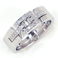 【3%OFFクーポン発行中】カルティエリングパンテールK18WGダイヤモンド10.5号/#51【中古】