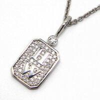 【3%OFFクーポン発行中】ハリーウィンストンネックレスHWロゴPT950ダイヤモンド【中古】